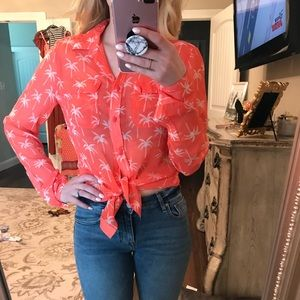 Palm Tree Blouse